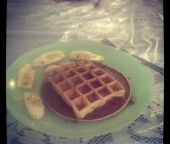 Home made pancakes and waffles